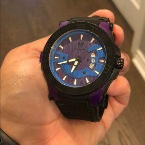 Purple/ black Meister watch
